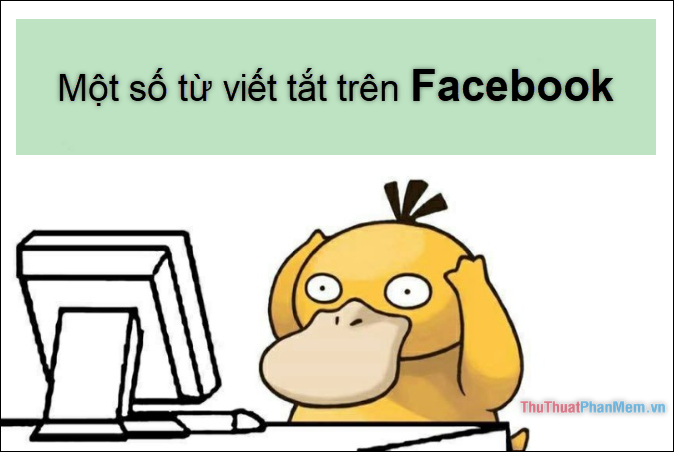 Mot so tu viet tat tren facebook